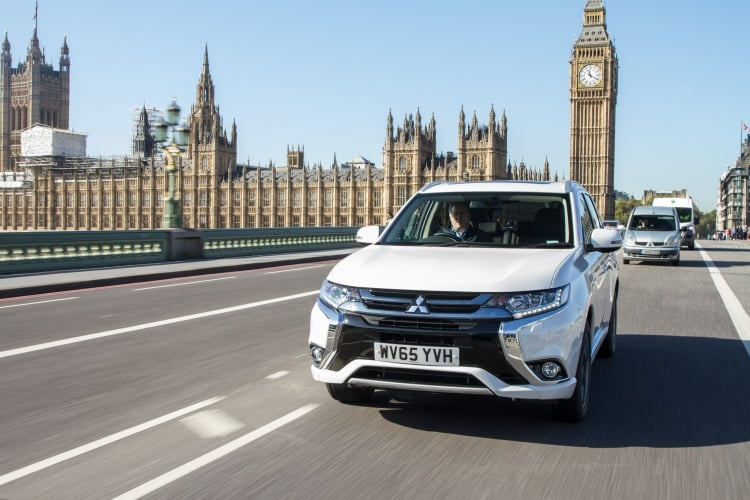 Mitsubishi's Outlander PHEV has led the new registrations charge in 2015