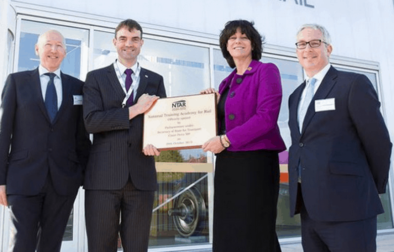 UK Rail Minister Claire Perry alongside other officials at the opening.