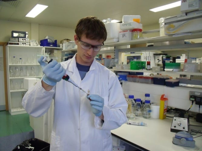 One of the fellowship recipients, Pavel Guzanov, from Novartis AG and the University of Oxford.