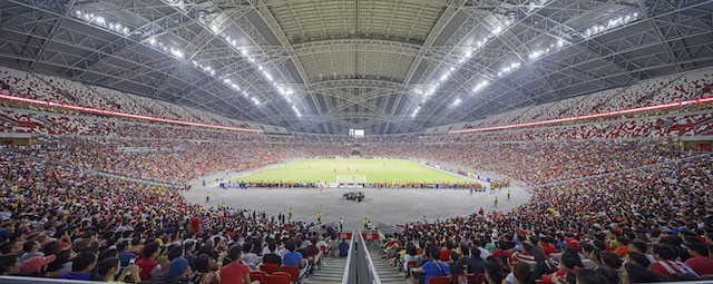 The Singapore Sports Hub is a key project in Singapore's urban redevelopment and sports facilities masterplan, which promotes a more sustainable, healthy and active society