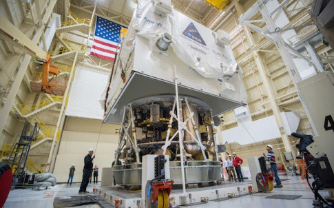ESA's European Service Module arrived in Cleveland in November and was transported to NASA Glenn's Plum Brook Station for testing in the Space Power Facility in 2016