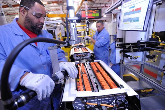 Battery packs are assembled for the C-MAX Hybrid and C-MAX Energi at the Rawsonville plant in Ypsilanti, Mich.