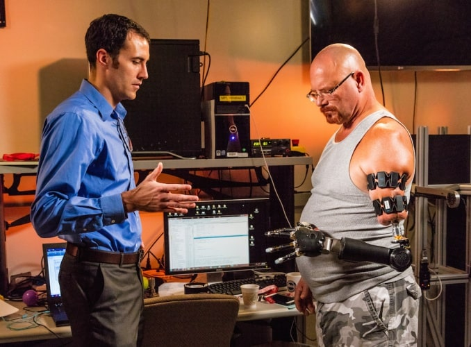 A pioneering surgical technique has allowed an amputee to attach APL's Modular Prosthetic Limb directly to his residual limb, enabling a greater range of motion and comfort than previously possible