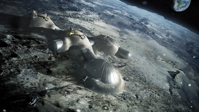 Any permanent base on the Moon or Mars will need to be built in situ rather than transported for later assembly