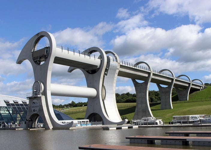 Structures, such as Scotland's Falkirk Wheel, have always held an appeal for Grace (Credit: Sean Mack)