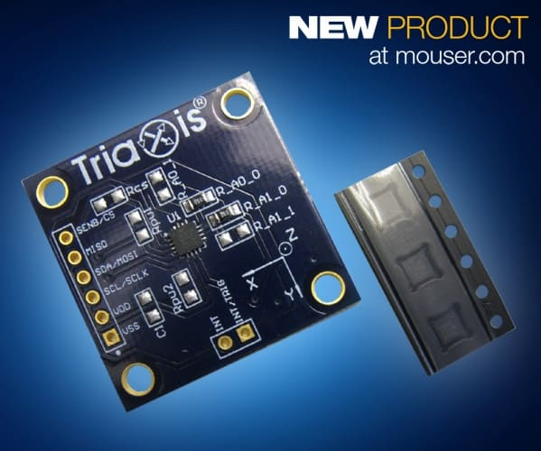 Mouser Now Shipping Melexis MLX90393 Triaxis Micropower Magnetometers and Evaluation Board