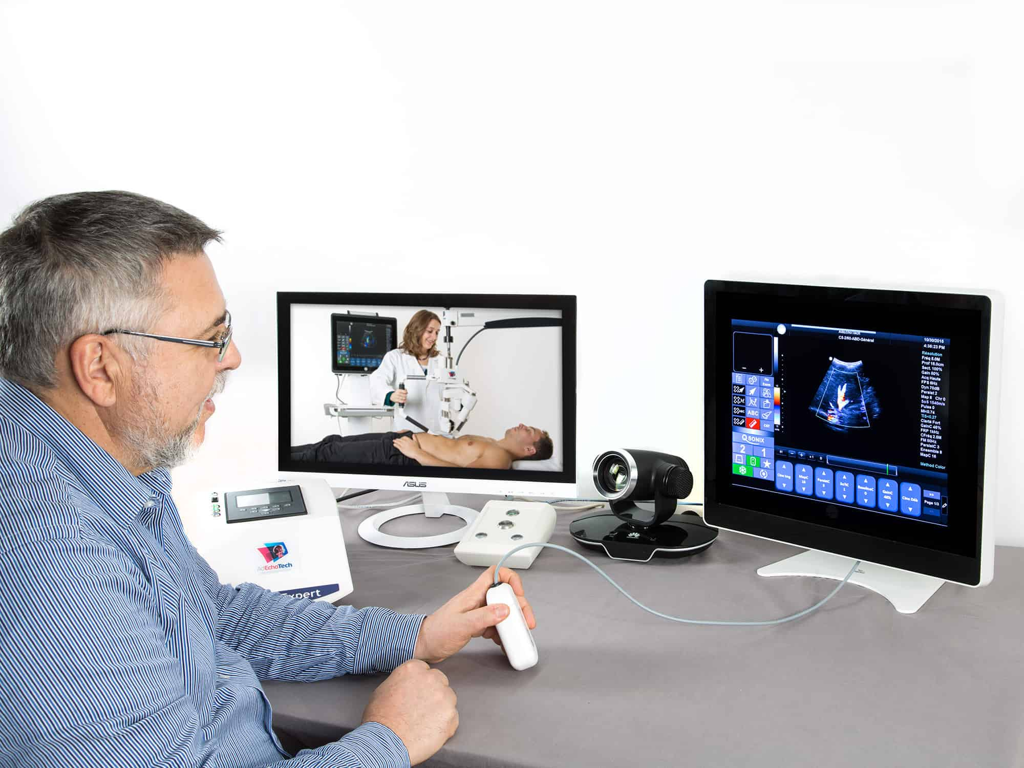 Experts can operate the equipment remotely