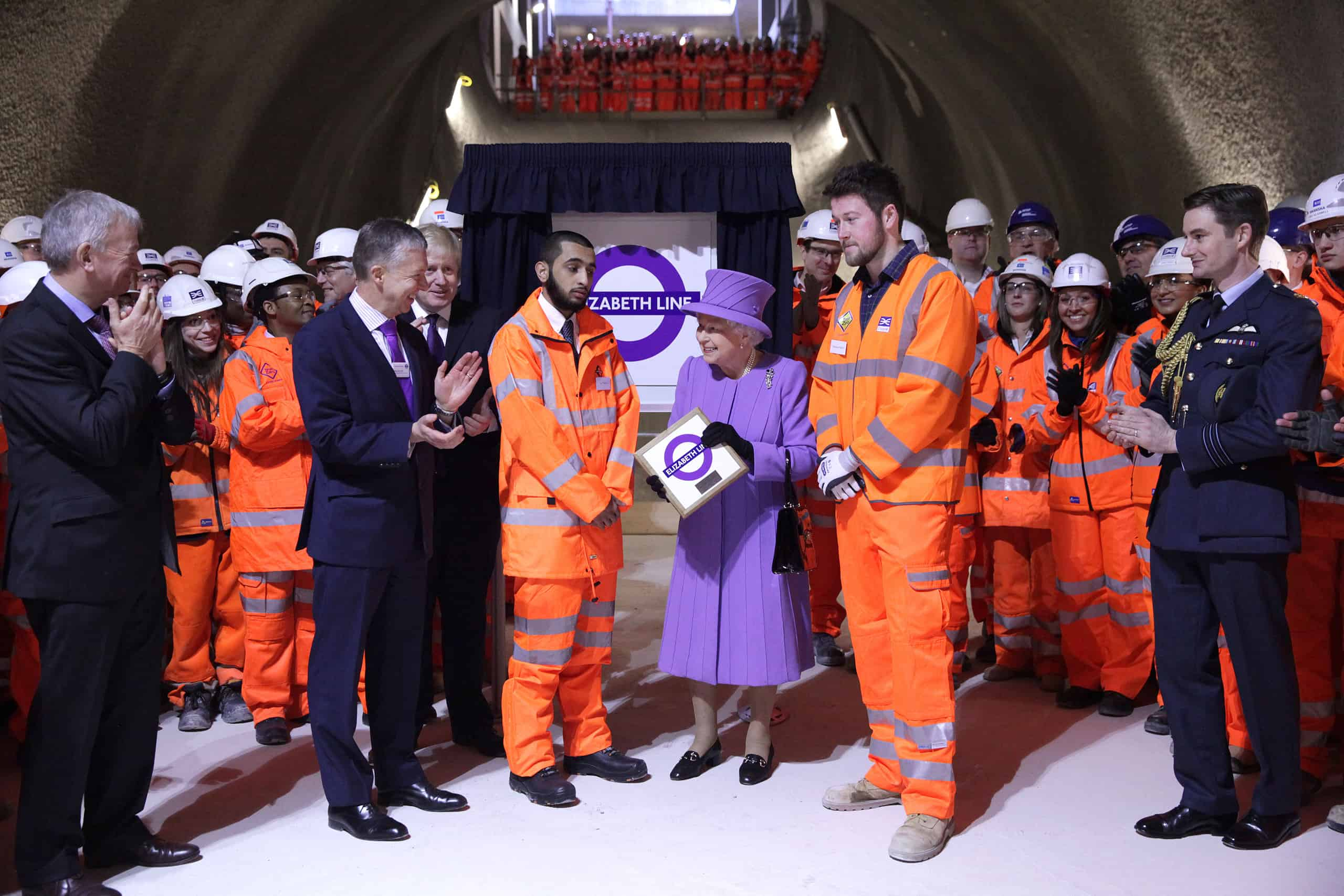 She'll probably never use it but it'll be named after her anyway: HM The Queen at the naming event for the line formerly known as Crossrail. Credit: James O Jenkins