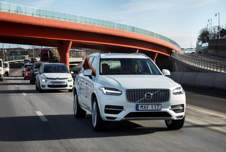 Volvo XC90 Drive Me test vehicle (Credit: Volvo)