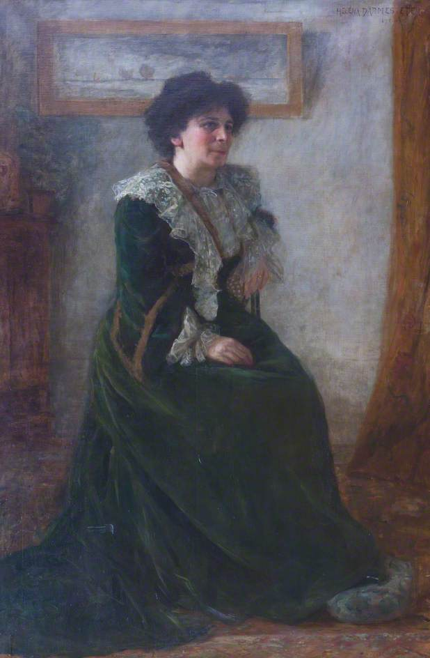 Hertha Ayton, by Helena Arsene Darmester; image courtesy Girton College, University of Cambridge