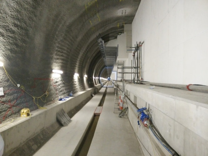 The platform at Tottenham Court Road station is beginning to take shape