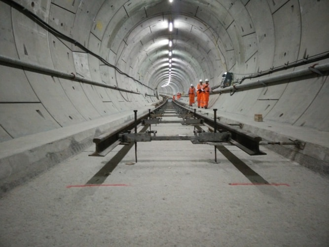 Over 10km of track has already been laid