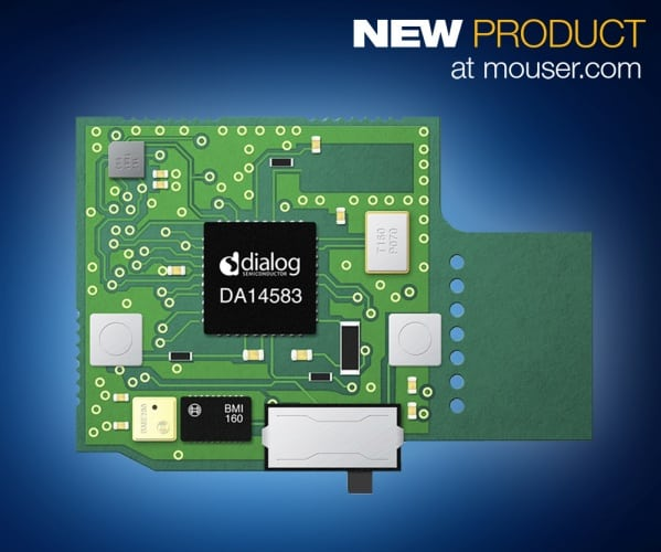 Mouser - Dialog Semiconductor's SmartBond DA14583 Dev Kit for Sensor-Based IoT Designs