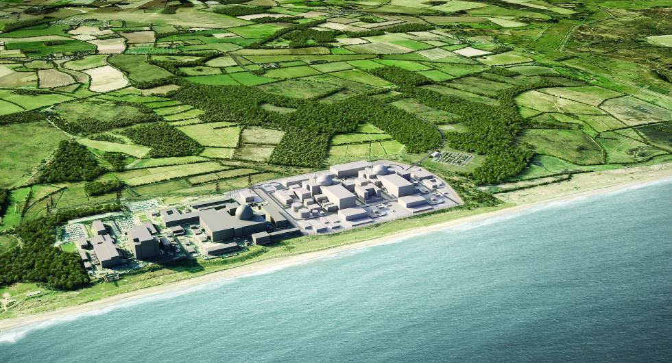 Sizewell aerial CGI