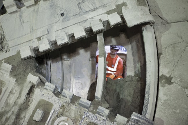 Different size tunnels in the Crossrail 2 project may help increase the ventilation flow