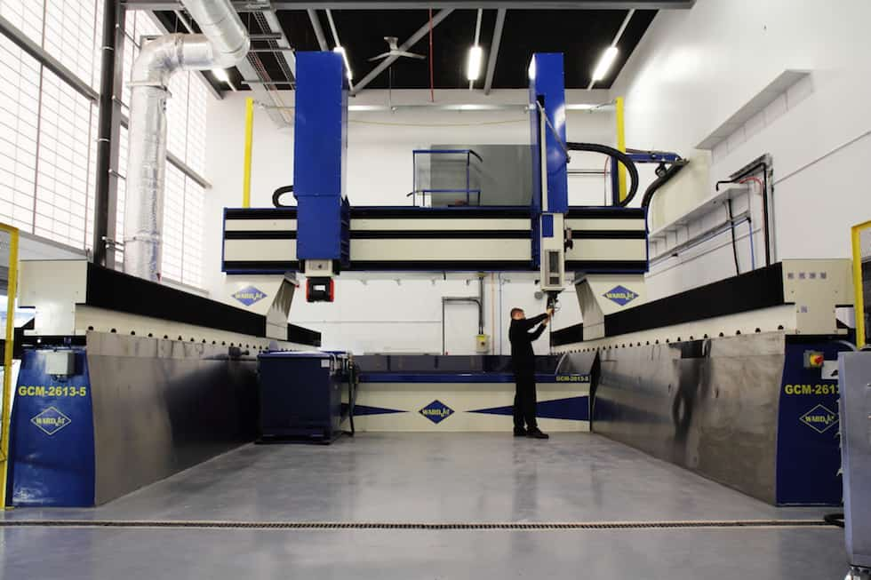 The waterjet cutter at the AMRC