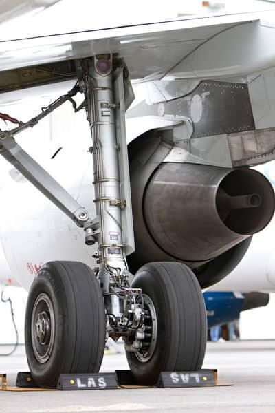 With EGTS, the APU powers motors in the main wheels