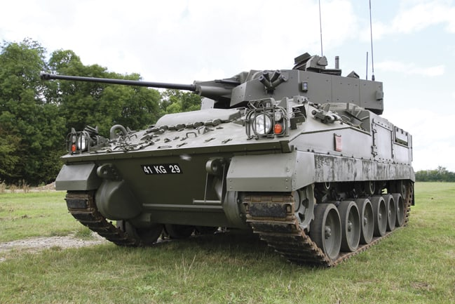 Developments for the turret of the Warrior armoured vehicle are a current main focus