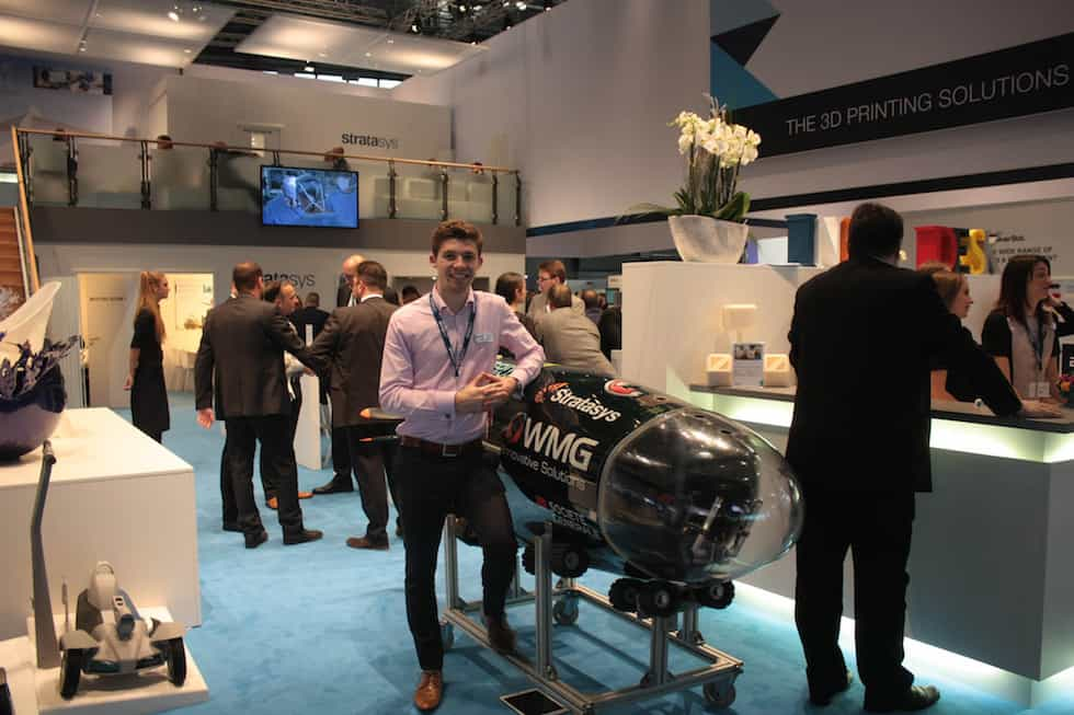 Josh Dobson, project leader of the 2016 Warwick Submarine, with the Godiva 2 vessel (Photo: Business Wire)