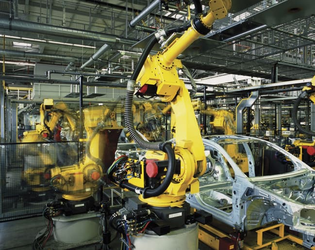 If the many motors on production lines could ,onitor themselves, the number of sensors needed could be reduced