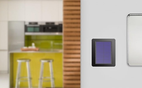 Stereax M250 battery within a perpetual beacon in a domestic environment, mounted on a wall