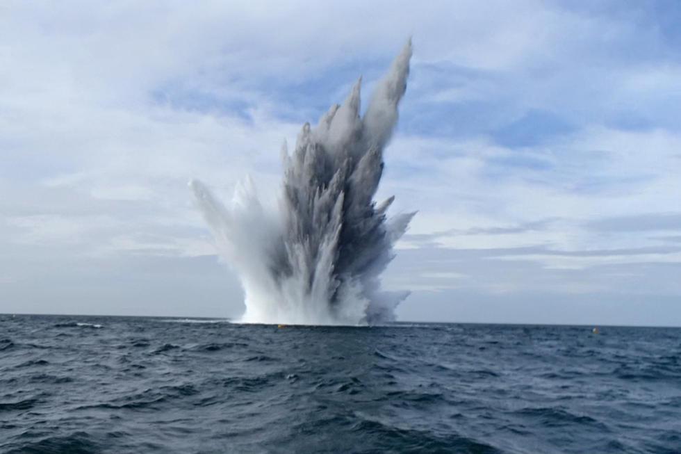 German Parachute Mine disposal on offshore wind farm
