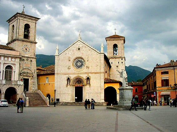 The town of Norcia was relatively unscathed this week, having been rebuilt to codes after a 1979 quake (Credit: Starlight via CC)