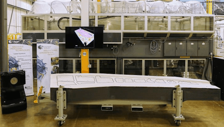 3D printed trim tool developed by ORNL and Boeing