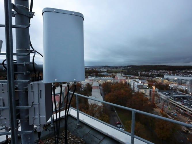 One of the EAN antenna sites above Stuttgart