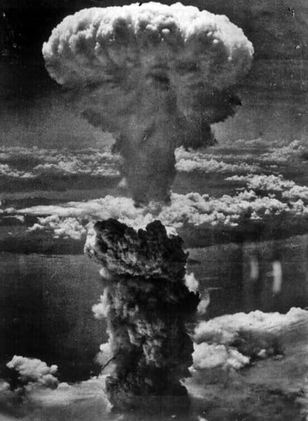 Mushroom cloud over Nagasaki, August 1945