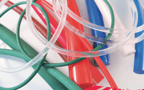 Thermoplastic polyurethane, trapezoidal and round belts for conveying and light power transmission