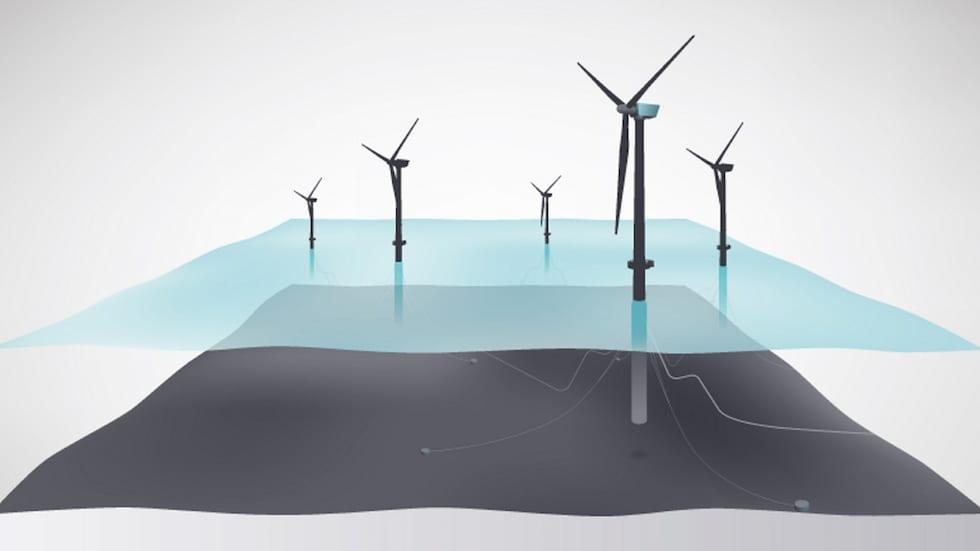 Hywind Scotland wind farm illustration