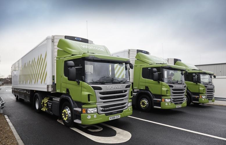 Fleet of Waitrose CNG-fuelled trucks - HIGH RES