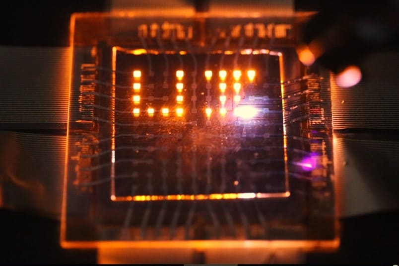 The team hasålready demonstrated light-responsive displays using the new LEDs