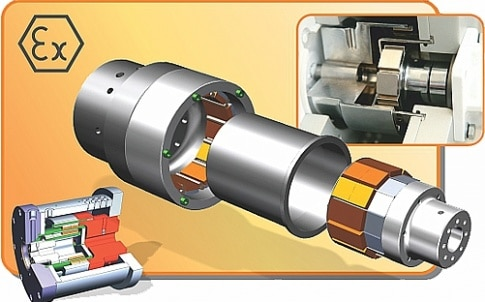 Mechanical power transmission magnetic couplings