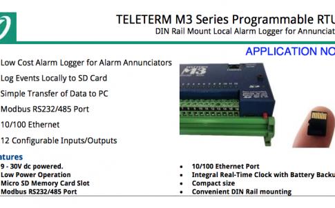 DIN Rail Mount Local Alarm Logger for Annunciators