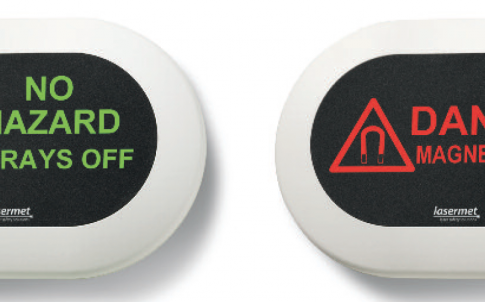 Low-voltage LED warning and room information signs