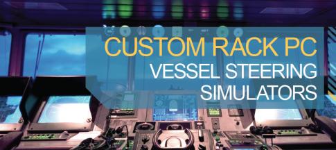 Custom rack PC vessel-steering simulators