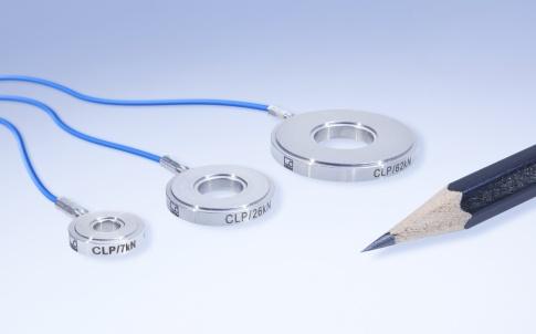 Piezoelectric miniature force washers