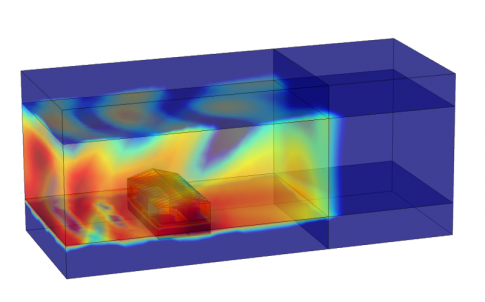 Tracking low-frequency sound waves in buildings