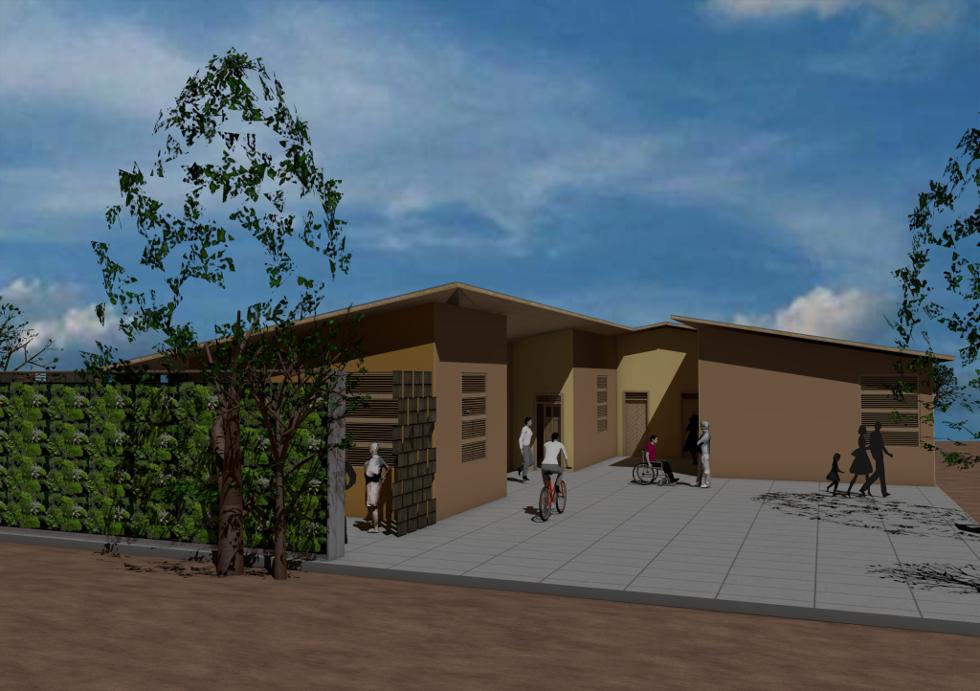 Proposed design for refugee dwelling