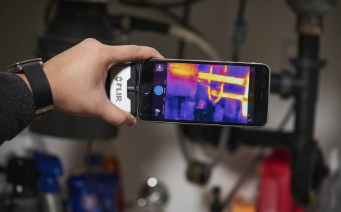 Thermal imaging cameras for smartphones and tablets