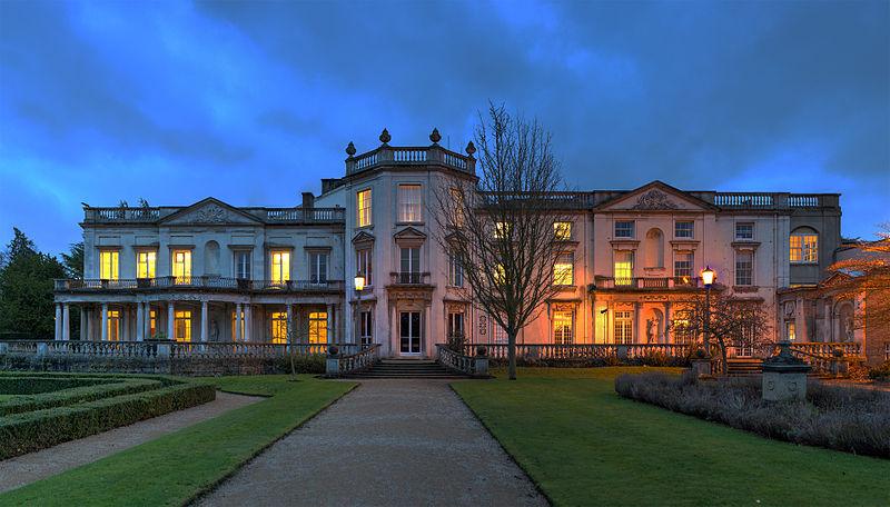 Grove House at dusk, University of Roehampton, London