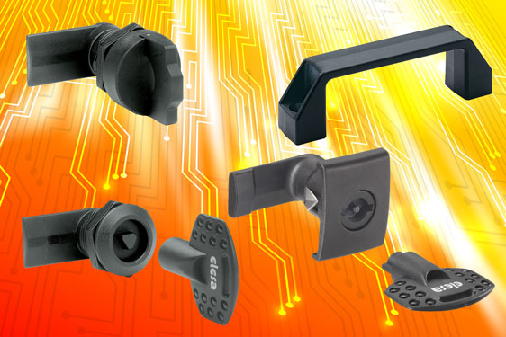 'V0'-certified quarter-turn latches, locks and bridge handles