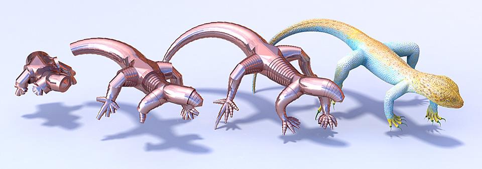 Telescopic lizard