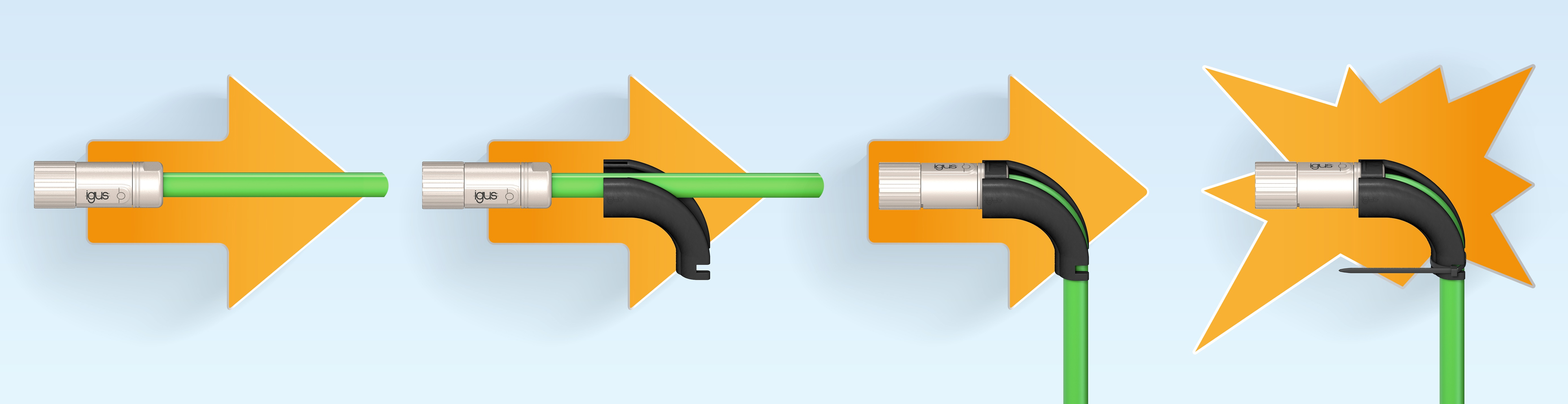 Ibow can be used to change a straight connector to an angled one