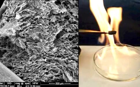Graphene-ceramic metamaterial (Purdue University photo)