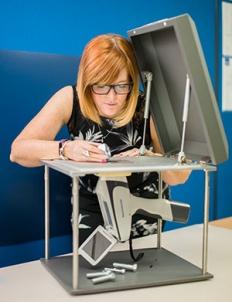 Spectrometer checks for hazardous substances