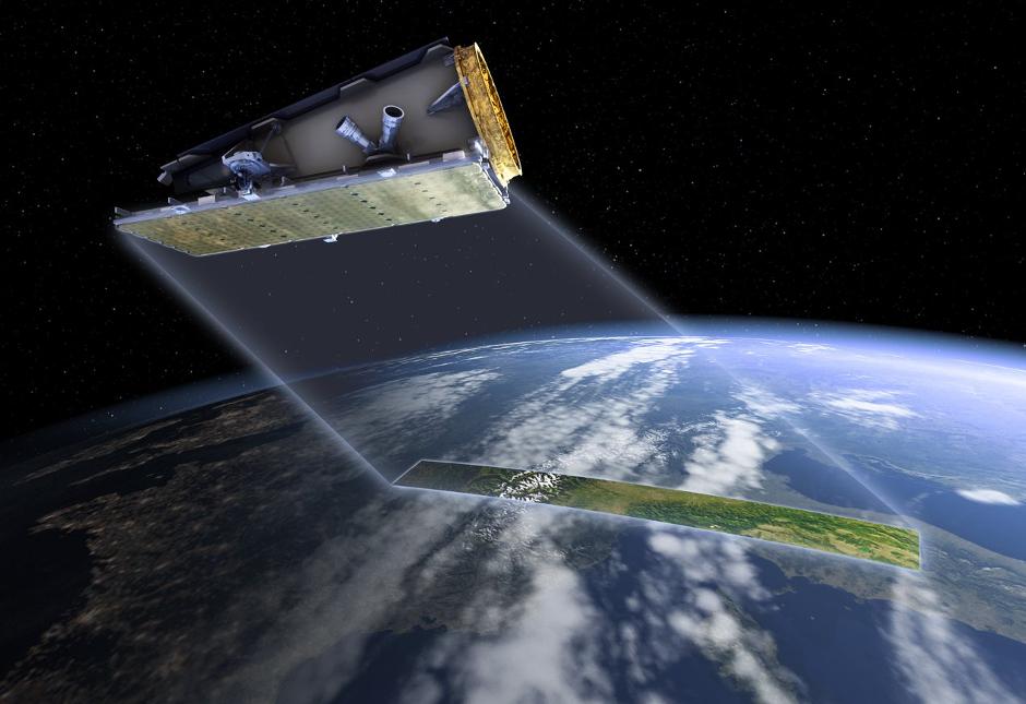 NovaSAR-S in flight (Credit: SSTL)