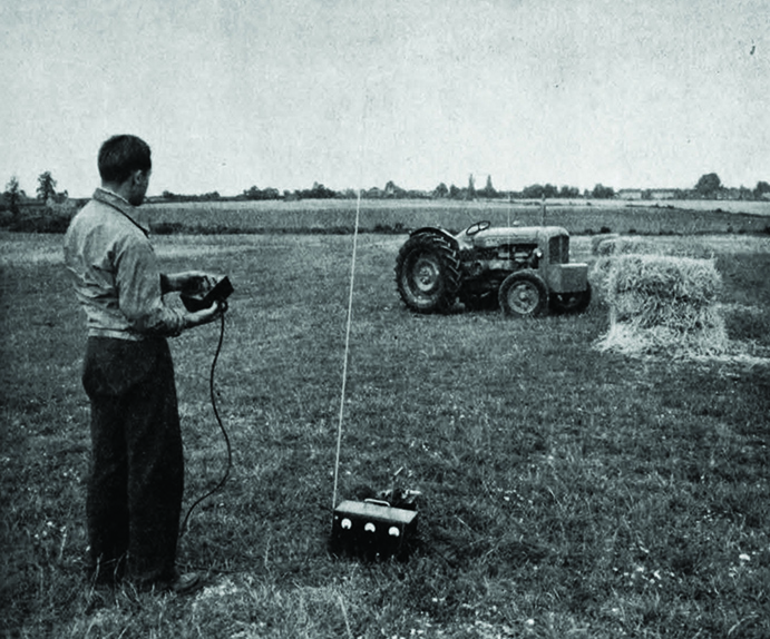 radio-controlled tractor